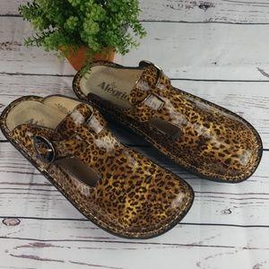 Alegria Leopard Print Clogs